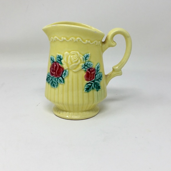 Vintage Norleans Japan yellow rose creamer pitcher